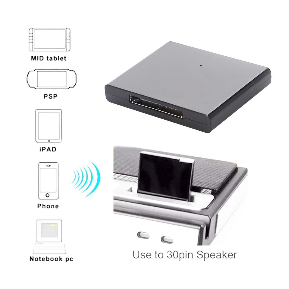 New IPhone IPod IPad 30 Pin Bluetooth Wireless Music Audio Receiver Adapter UK