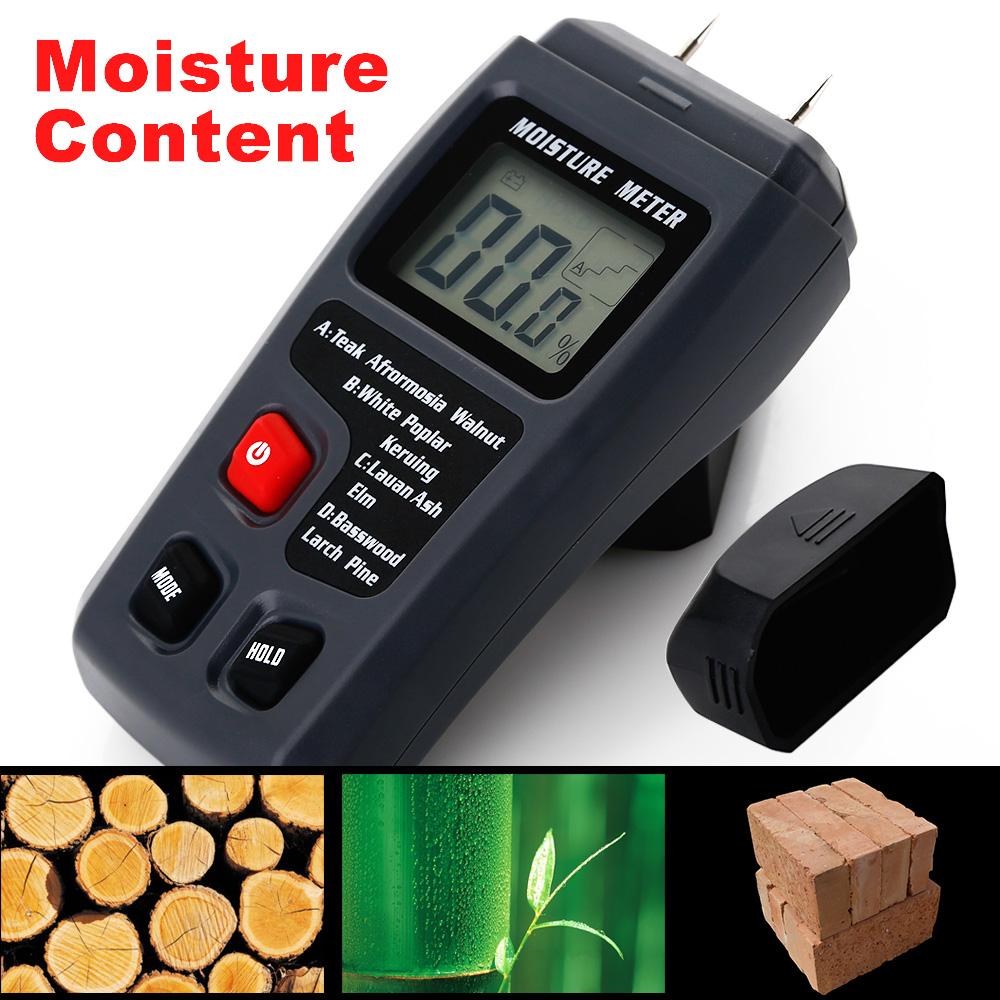Digital Humidity Meter : Digital lcd moisture meter wood firewood humidity detector