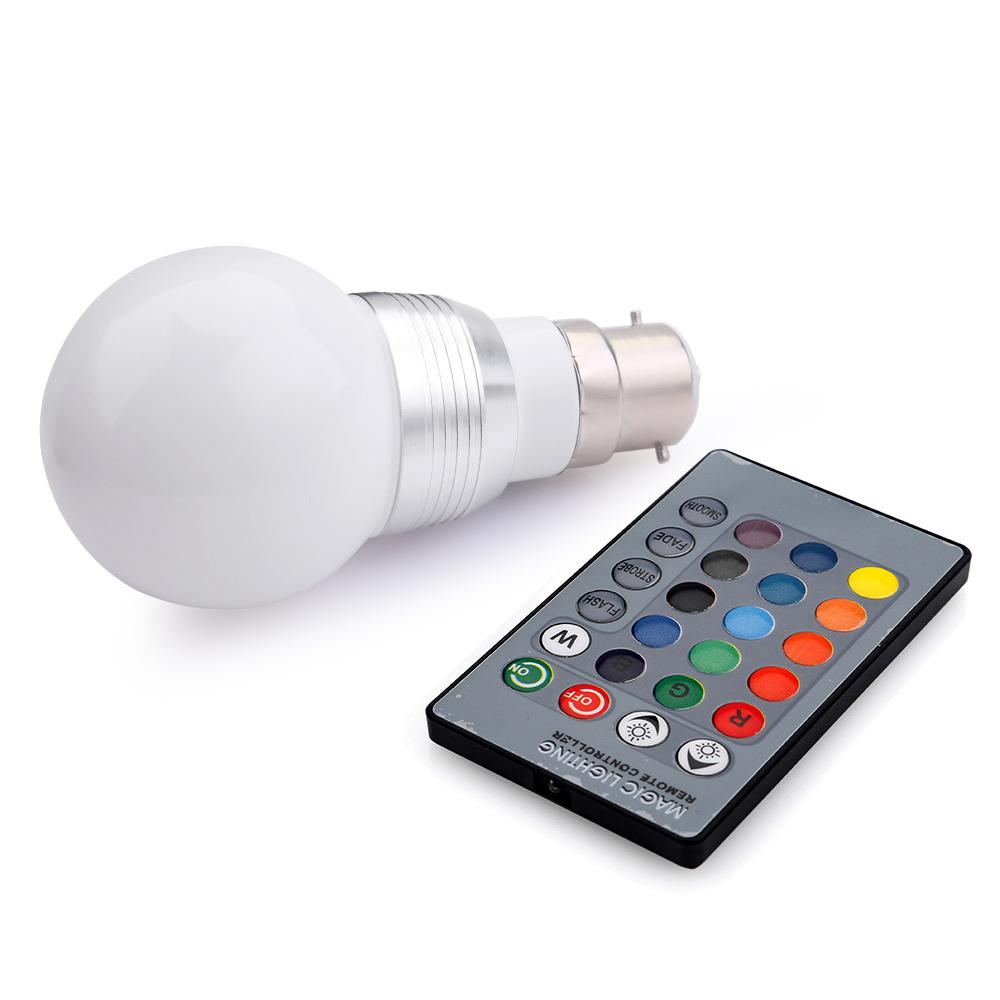b22 3w rgb led birne farbwechsel gl hlampe gl hbirne licht. Black Bedroom Furniture Sets. Home Design Ideas