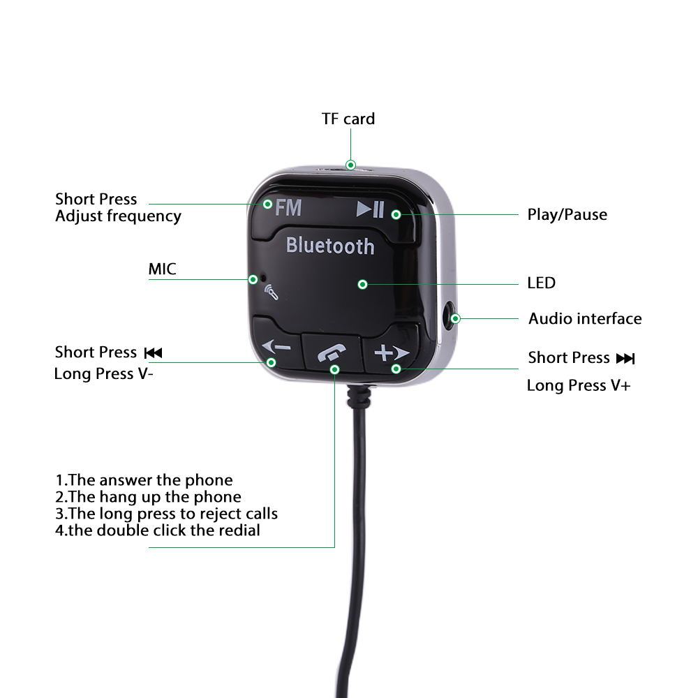 bluetooth magnetic fm transmitter car kit usb charger sd. Black Bedroom Furniture Sets. Home Design Ideas