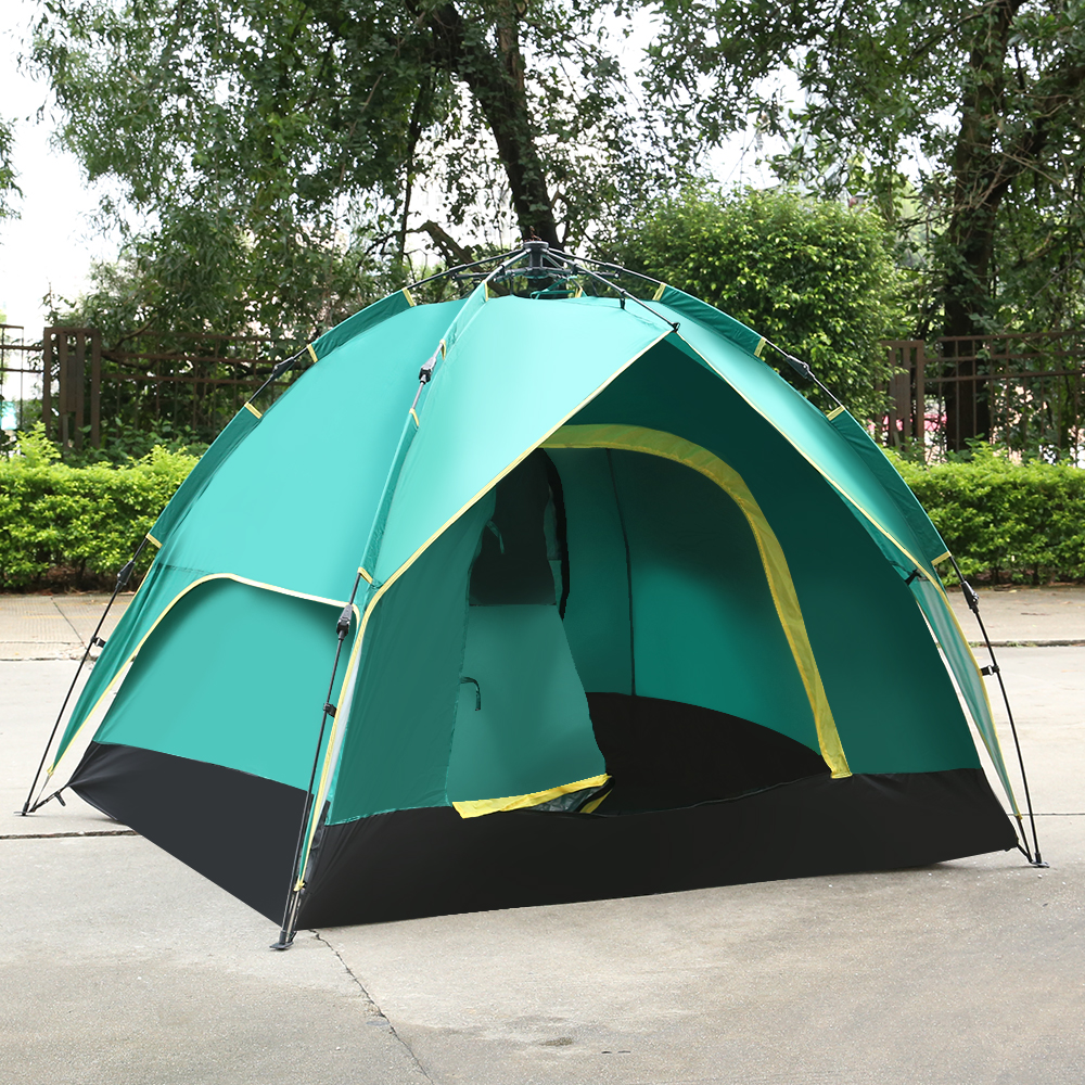 3 Person Pop Up Automatic Tent Outdoor Camping Hiking