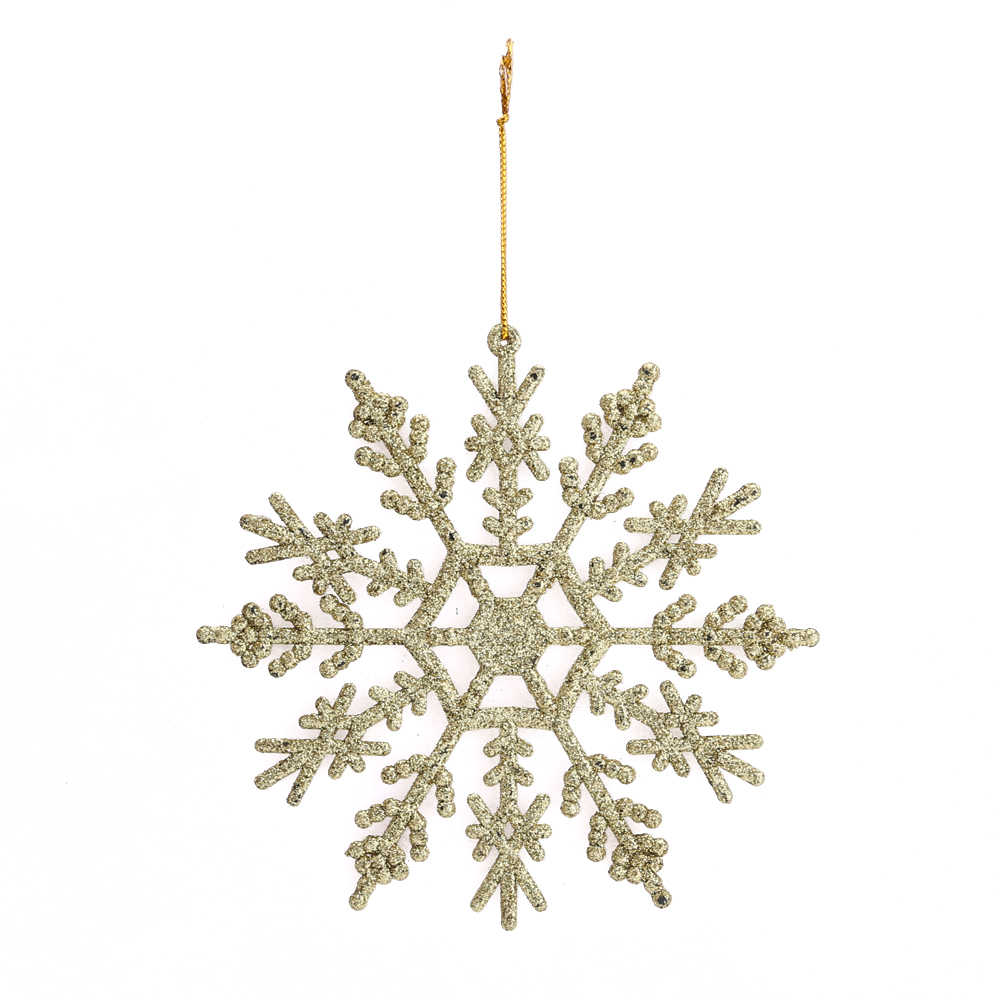 12stk glitter schneeflocke weihnachtsbaum anh nger. Black Bedroom Furniture Sets. Home Design Ideas