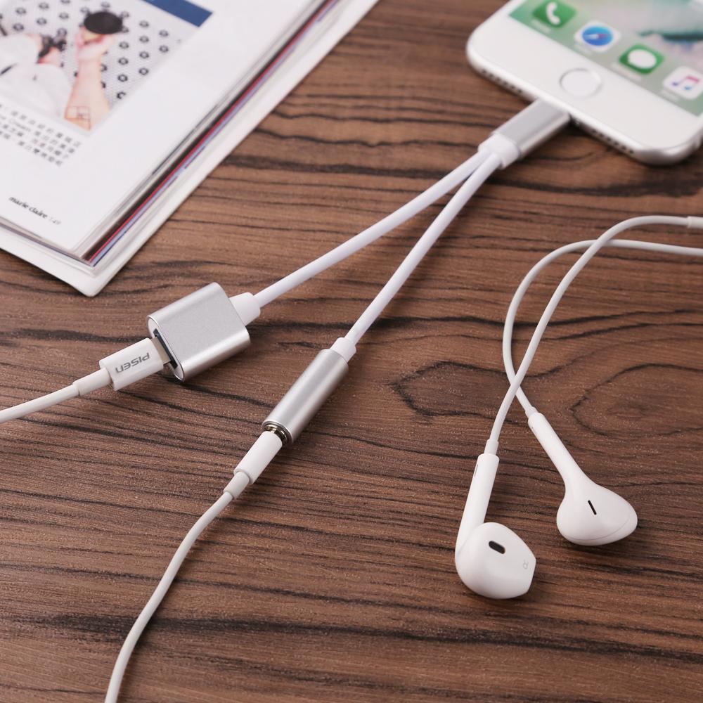 iphone 7 7 plus ladeger t adapter kabel lightning 3 5 mm. Black Bedroom Furniture Sets. Home Design Ideas