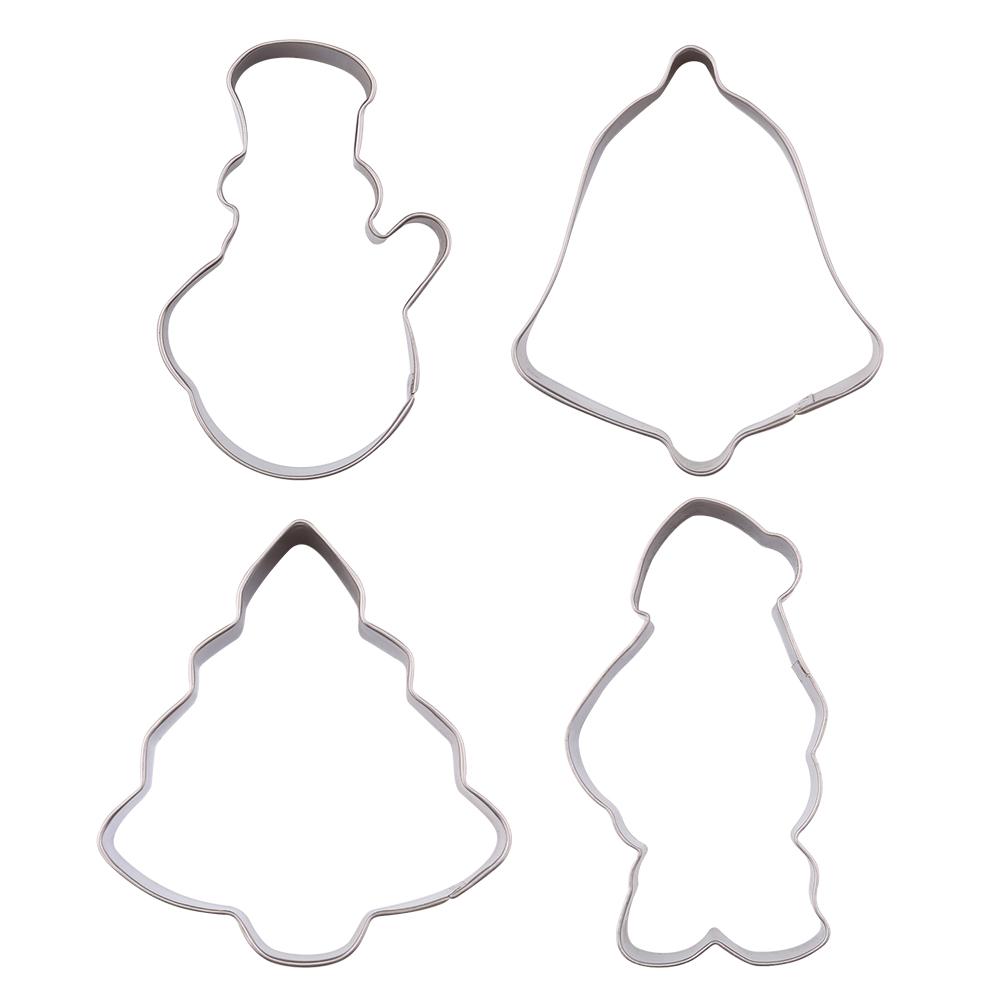 4pcs weihnachten nikolaus snowman gl ckchen tannenbaum. Black Bedroom Furniture Sets. Home Design Ideas