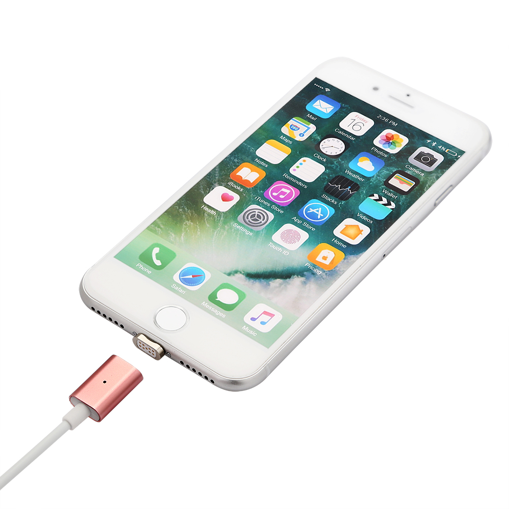 usb ladekabel kabel magnet adapter kabel ladeger t f r iphone 5 6 7 rose gold ebay. Black Bedroom Furniture Sets. Home Design Ideas