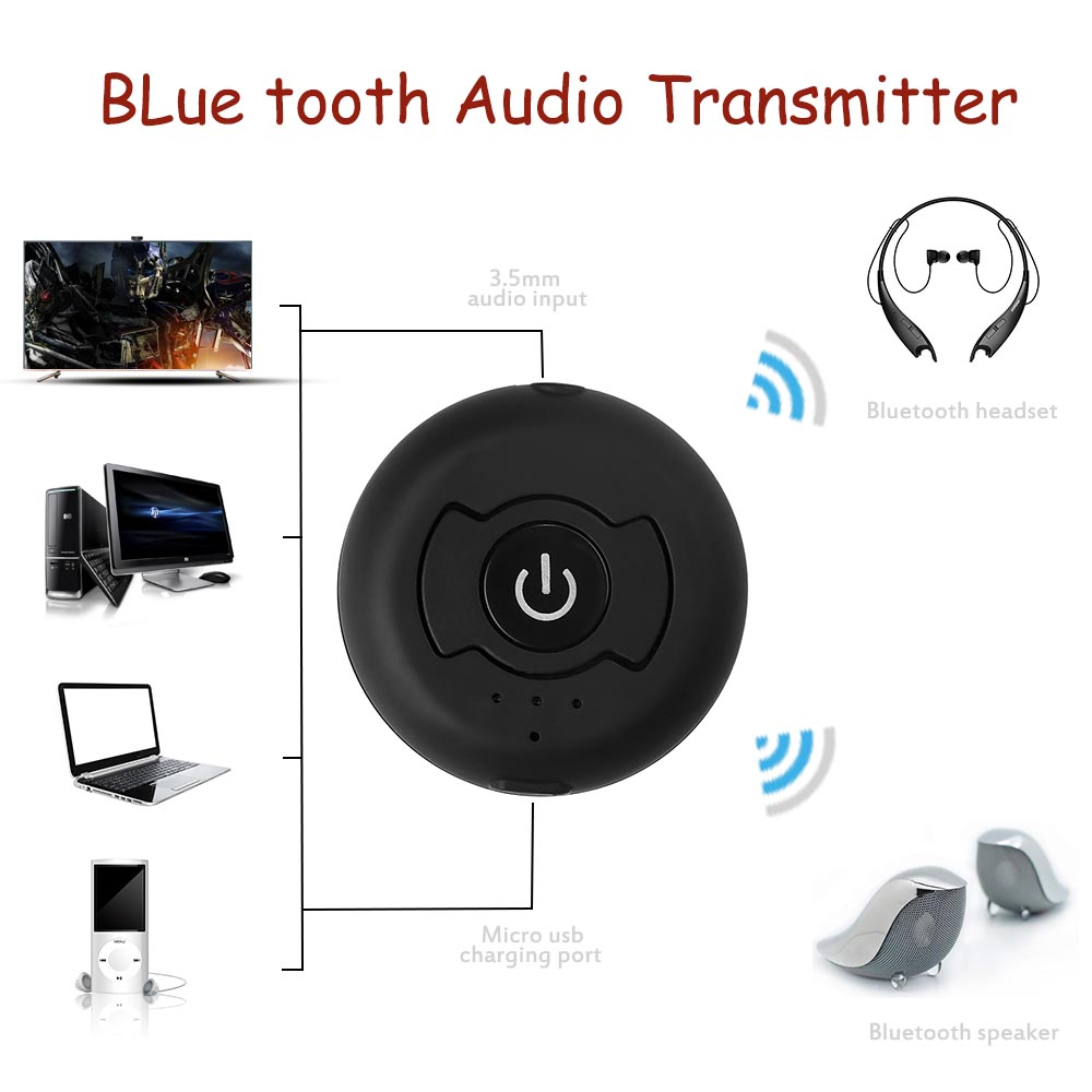 wireless bluetooth sender empf nger stereo audio receiver adapter a2dp 3 5mm ebay. Black Bedroom Furniture Sets. Home Design Ideas