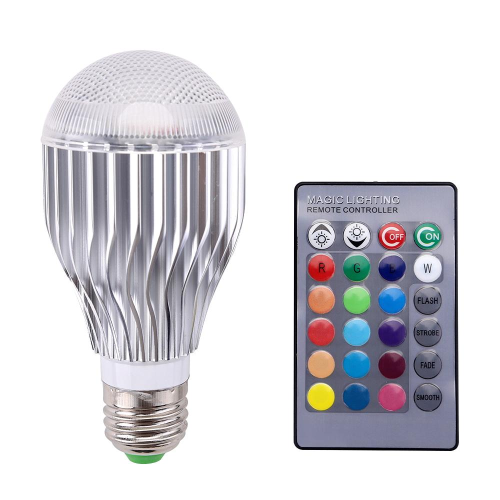 10W RGB LED Glühbirne Glühlampe E27 Glühbirnen Leuchte Licht ...