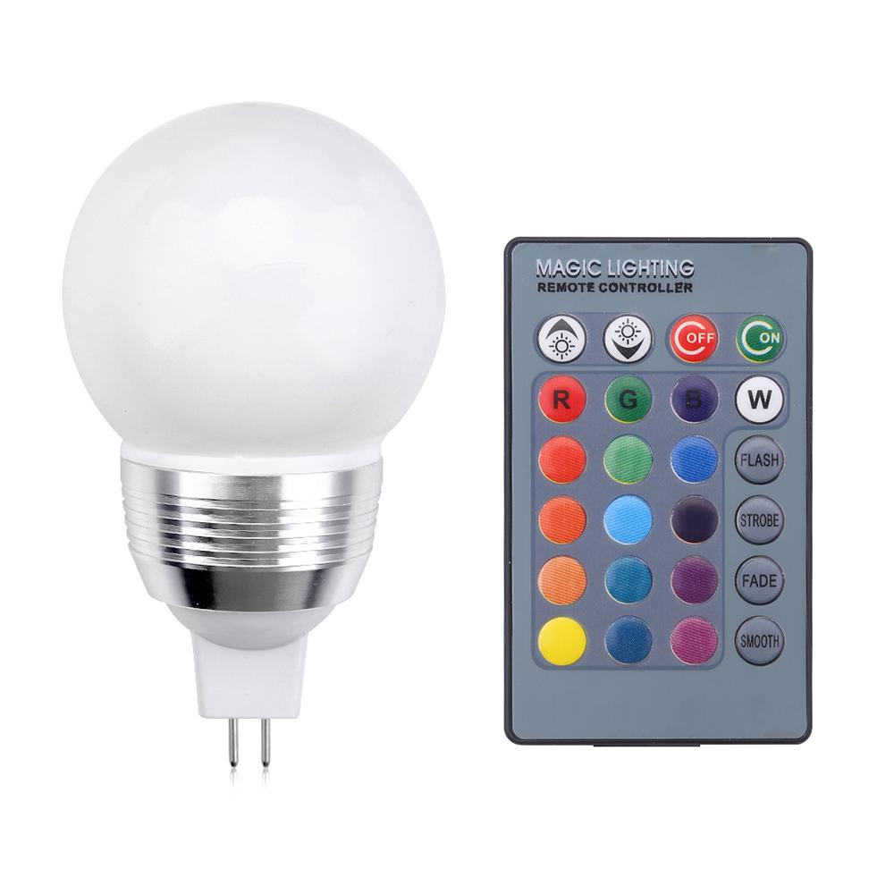 3w rgb led birne spot farbwechsel lampe mit fernbedienung gu10 b22 e14 mr16 e27 ebay. Black Bedroom Furniture Sets. Home Design Ideas