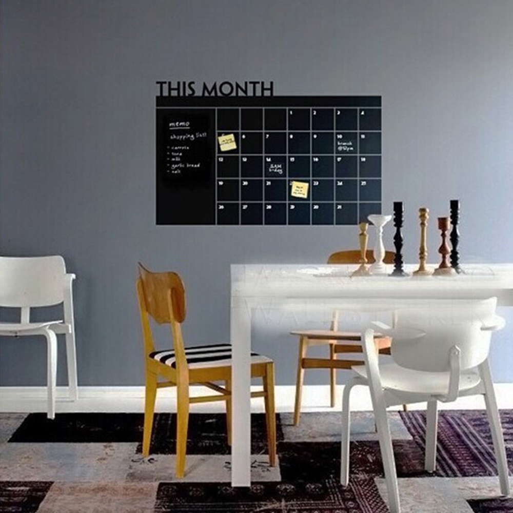 monatsplaner wandaufkleber kalender wandsticker. Black Bedroom Furniture Sets. Home Design Ideas