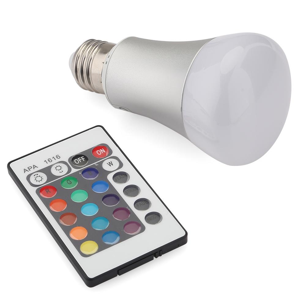 10w rgb led birne farbwechsel gl hlampe dimmbar gl hbirne licht lampe e27 6000000064693 ebay. Black Bedroom Furniture Sets. Home Design Ideas
