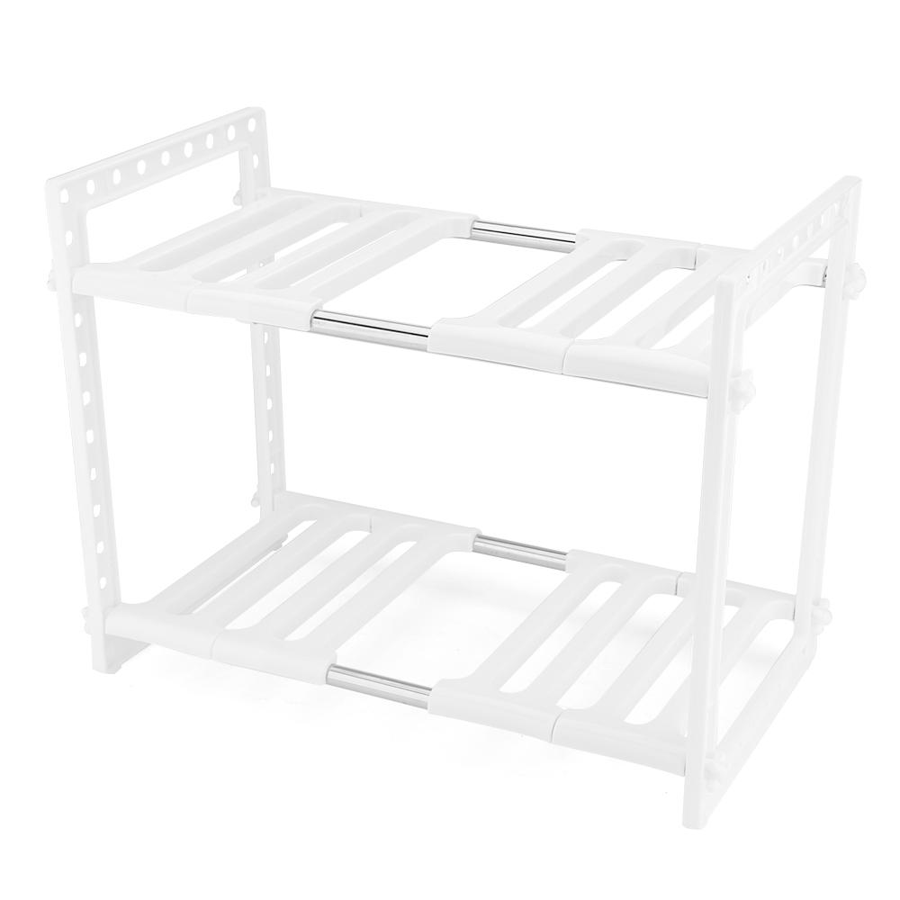 etag re r glable et extensible sous evier rangement en inox etag re ajustable ebay. Black Bedroom Furniture Sets. Home Design Ideas