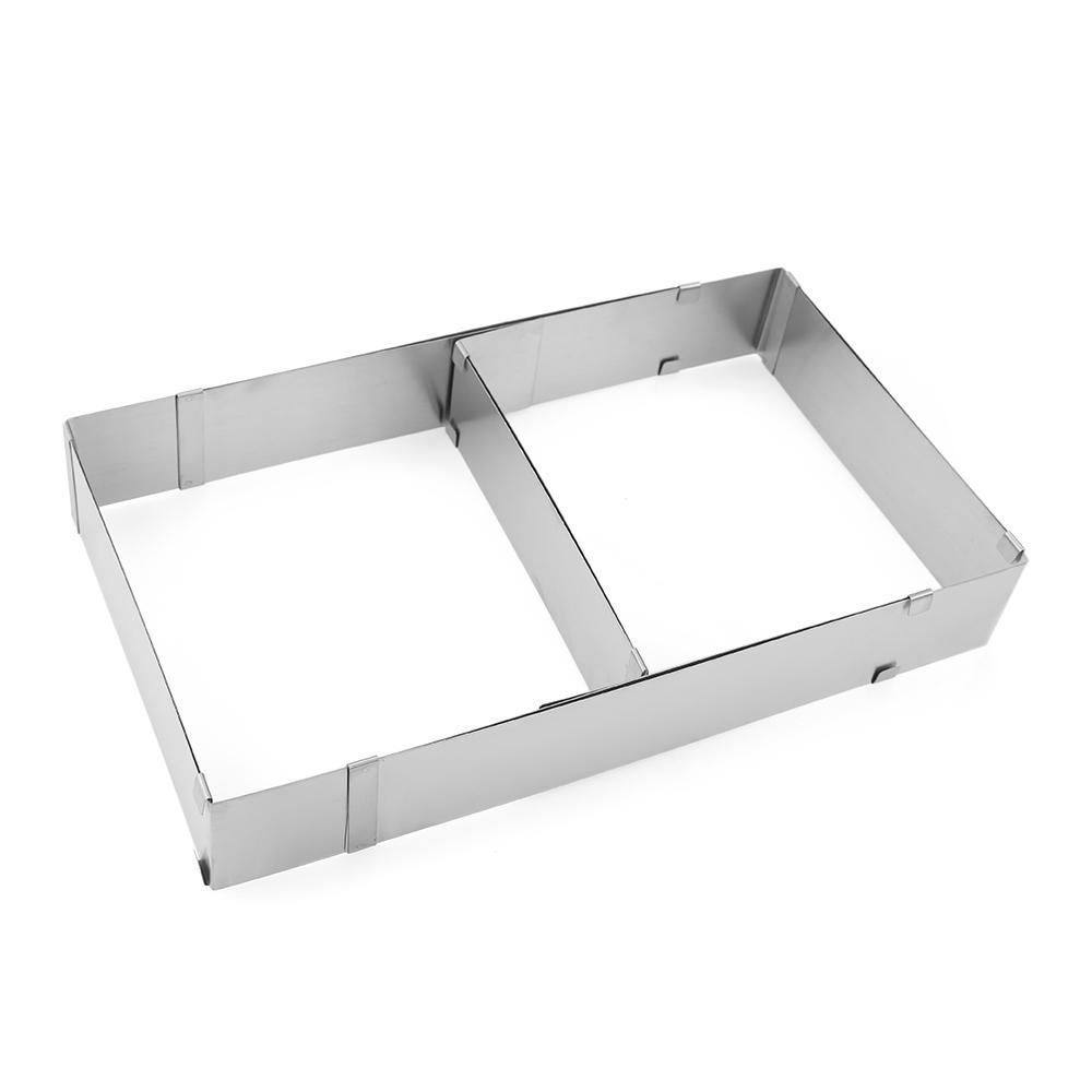 Verstellbare Edelstahl Kuchenrahmen Backen Kuchen Rahmen ...