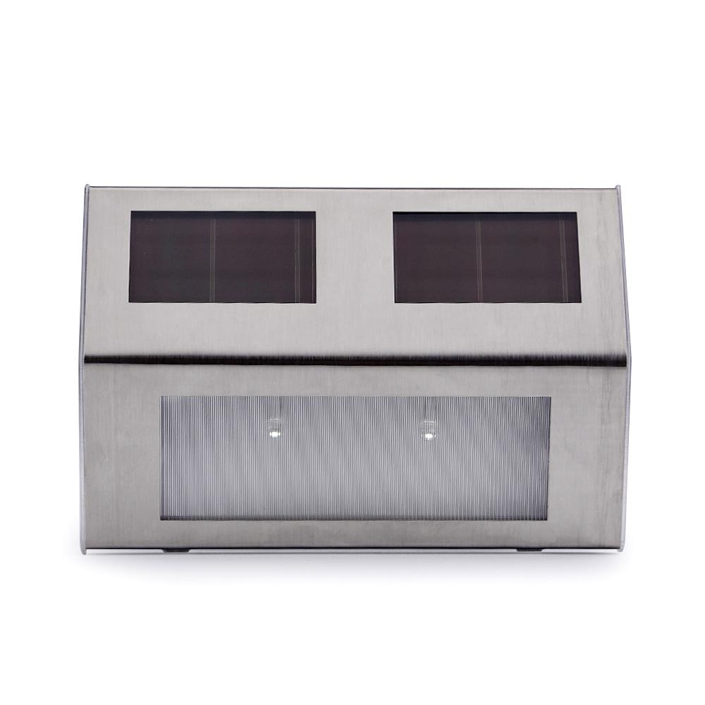 led solarlampe edelstahl wandleuchte au en solar garten wandlampe leuchte lampe ebay. Black Bedroom Furniture Sets. Home Design Ideas