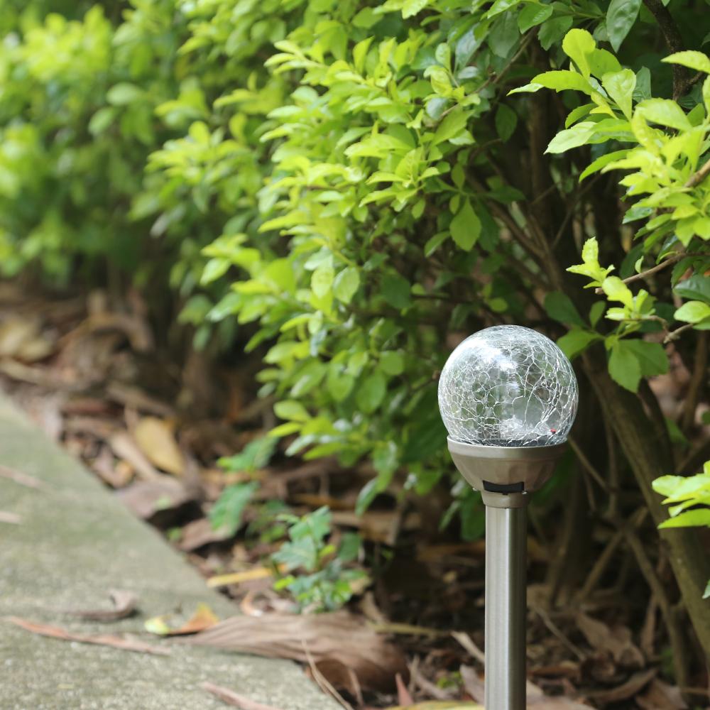 4 stk led solarleuchten glas kugel solarlampen kugelleuchten farbwechsel set ebay. Black Bedroom Furniture Sets. Home Design Ideas