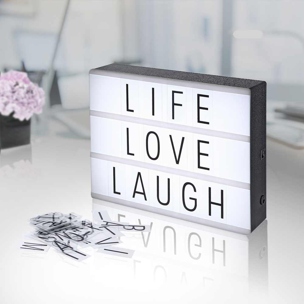 Cinema light box diy letter display party shop wedding for Cadre deco maison