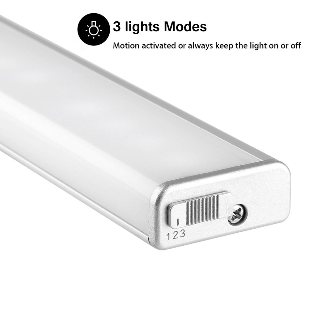 Casalife Led Cabinet Sensor Light: 18 LED PIR Motion Sensor LED Light Rechargeable Under
