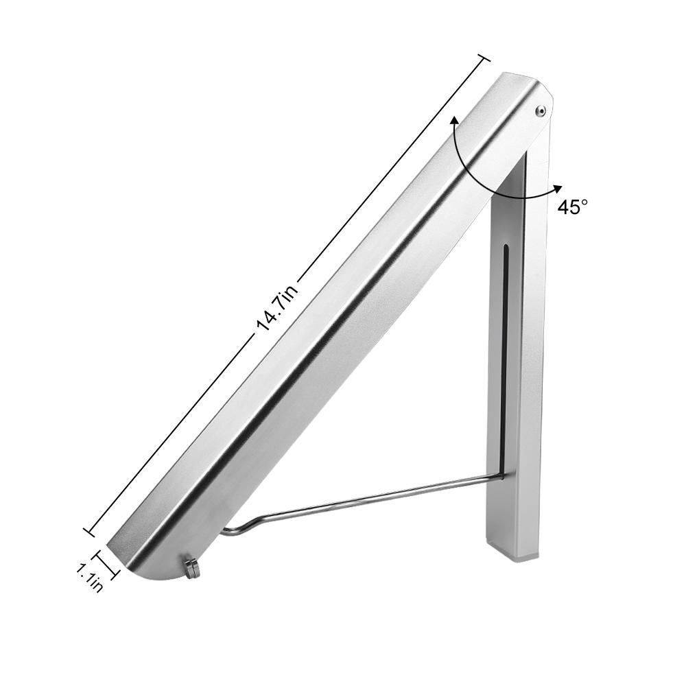 kleiderhaken klappbar wand kleiderst nder klapphaken garderobenhaken aluminium ebay. Black Bedroom Furniture Sets. Home Design Ideas