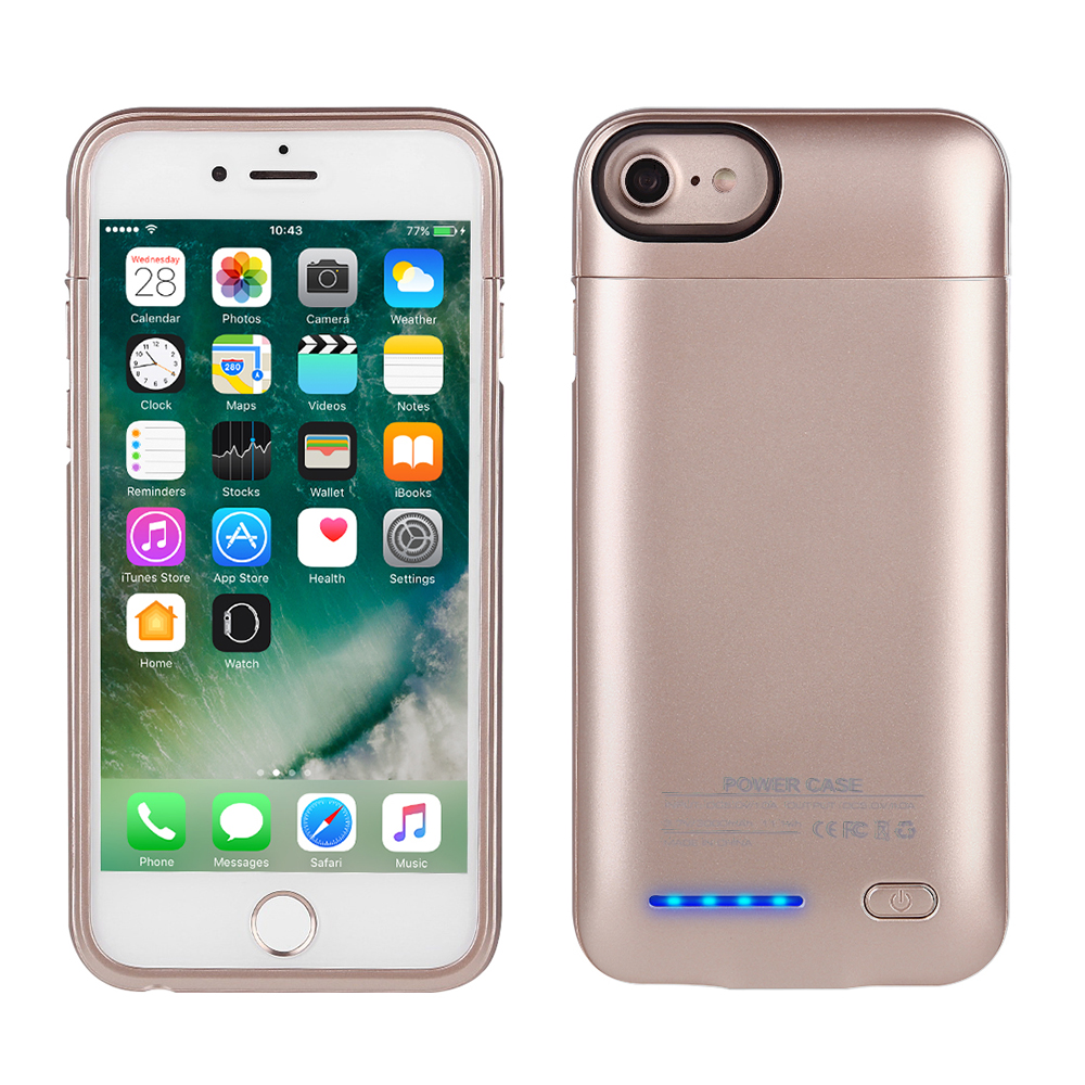 3000mah zusatzakku battery charger case magnetic power bank f r iphone 6 6s 7 ebay. Black Bedroom Furniture Sets. Home Design Ideas