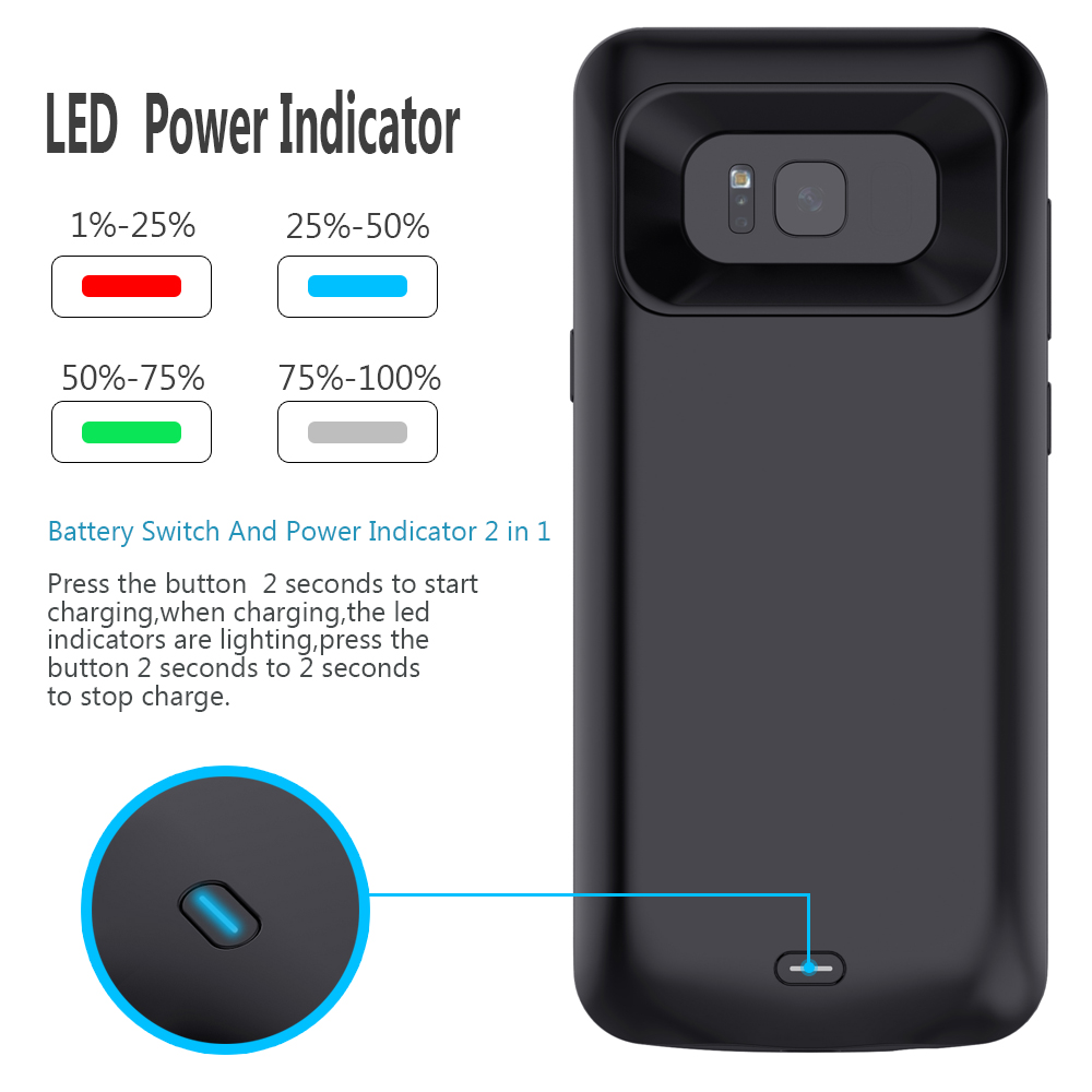 size 40 eeb1f 8f133 Details about Samsung Galaxy S8,S8 Plus External Battery Case Power Bank  Pack Backup Cover UK