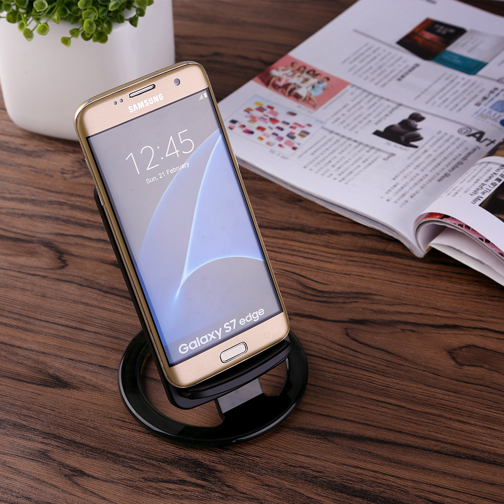 qi wireless induktive ladestation charger ladeger t f r samsung galaxy s6 s7 s8 ebay. Black Bedroom Furniture Sets. Home Design Ideas