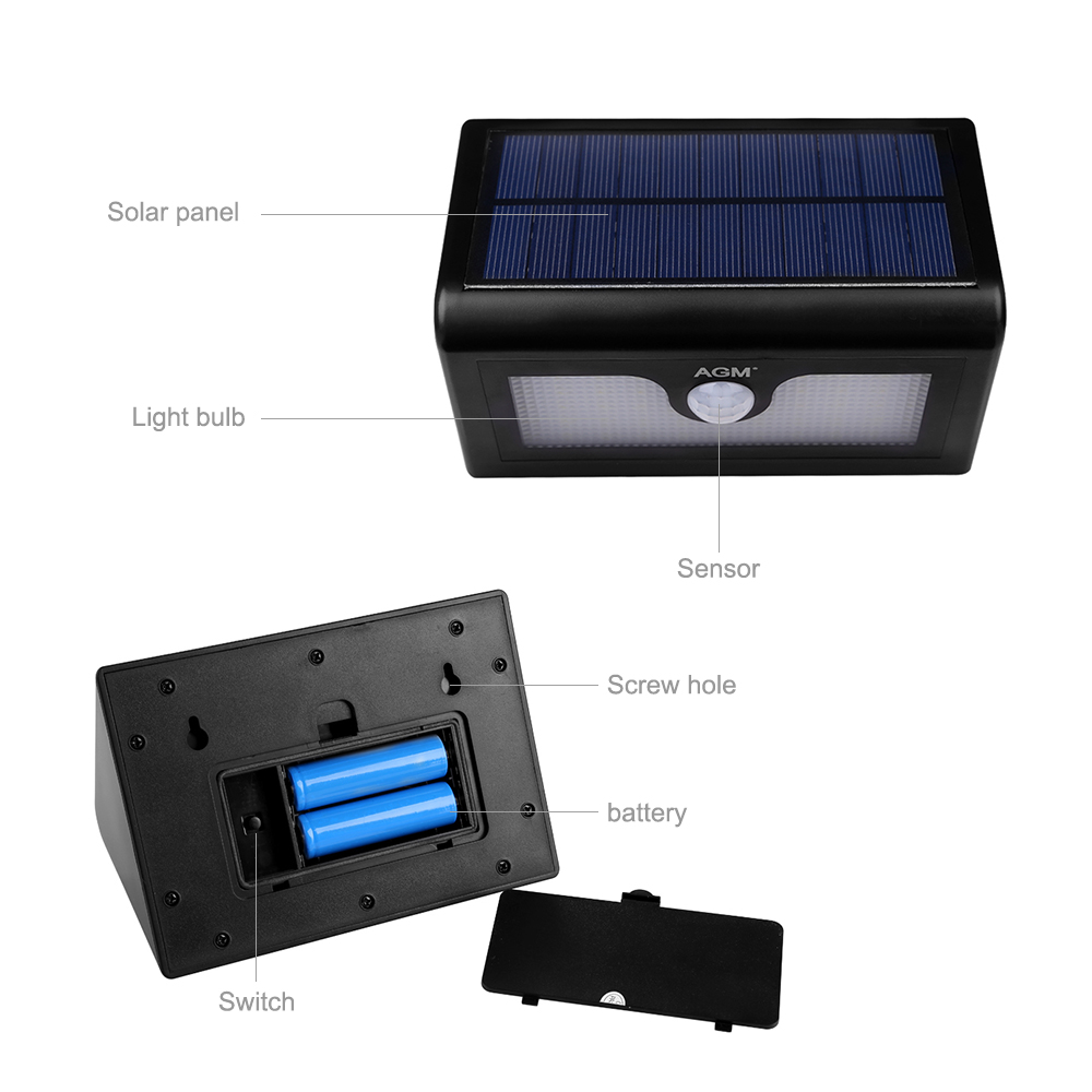 led solarlampe solarleuchte 48led dachrinnen au enlampe licht bewegungsmelder ebay. Black Bedroom Furniture Sets. Home Design Ideas