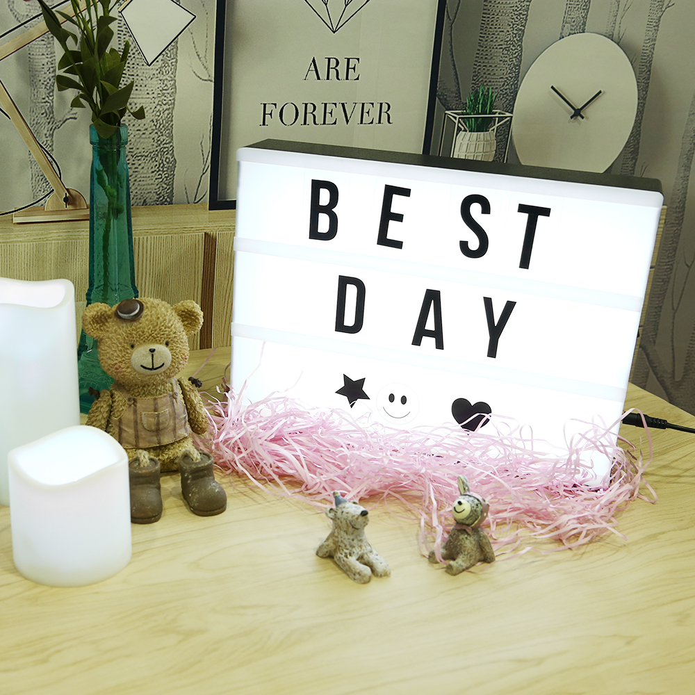led lightbox a4 leuchtkasten filmischen lichtbox party deko mit buchstaben de ebay. Black Bedroom Furniture Sets. Home Design Ideas