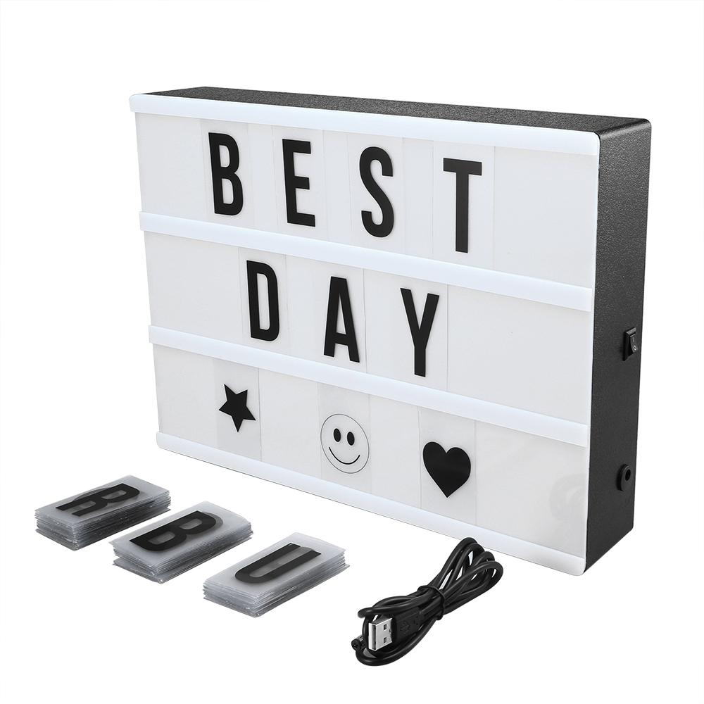 led lightbox a4 leuchtkasten filmischen licht box party deko mit buchstaben ebay. Black Bedroom Furniture Sets. Home Design Ideas