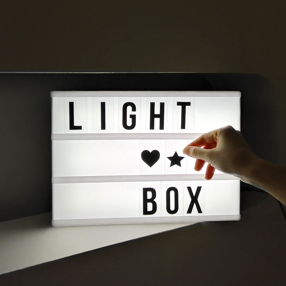 a4 leuchte box filmische leuchtkasten warm licht box buchstaben nummer emojis ebay. Black Bedroom Furniture Sets. Home Design Ideas