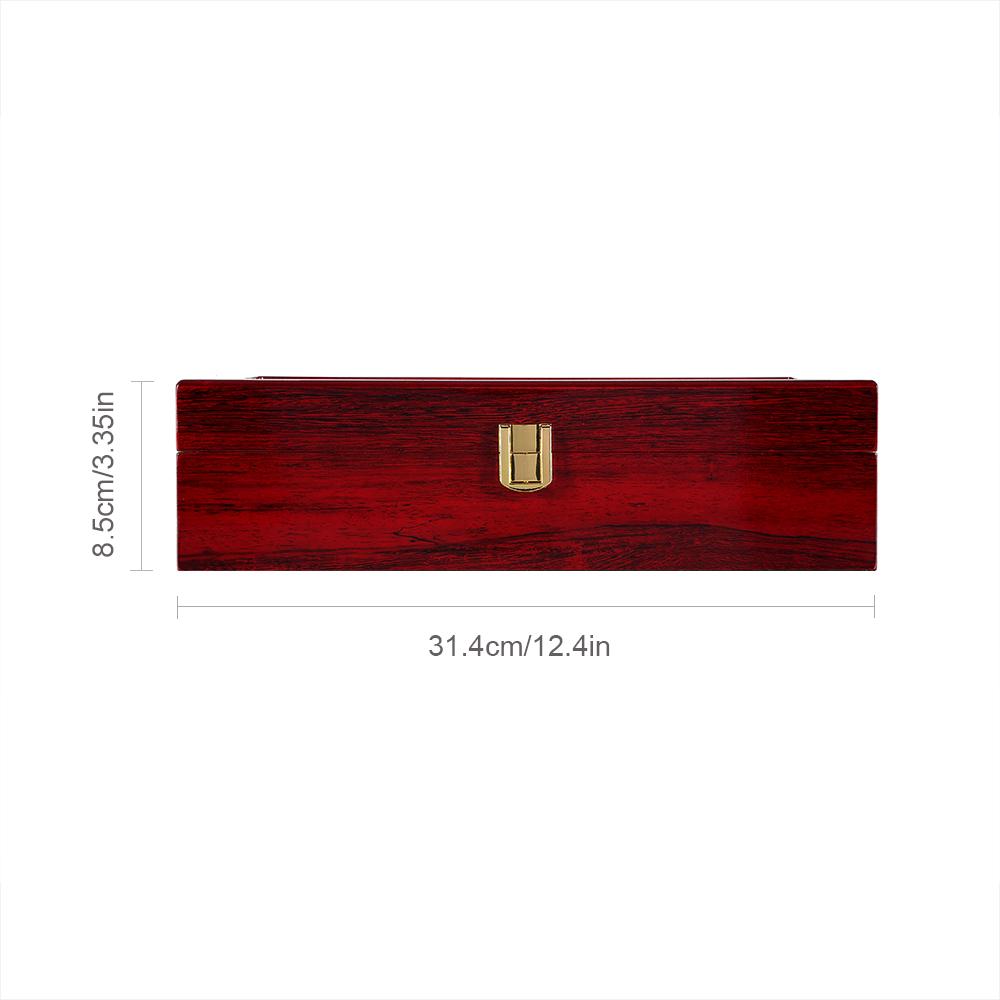 Holz Uhrenbox Uhrenkoffer Uhrenkasten Rot Uhrenschatulle Uhrentruhe 6 Uhren I9F5