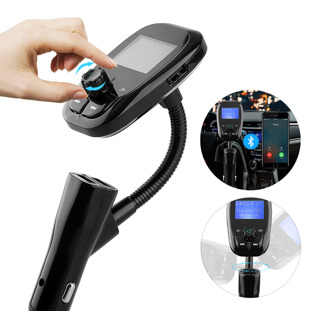 auto fm transmitter bluetooth radio adapter 2 usb. Black Bedroom Furniture Sets. Home Design Ideas