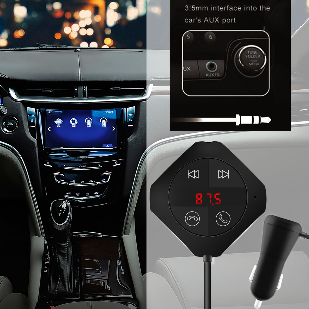 auto fm transmitter bluetooth kfz radio adapter mp3 player. Black Bedroom Furniture Sets. Home Design Ideas