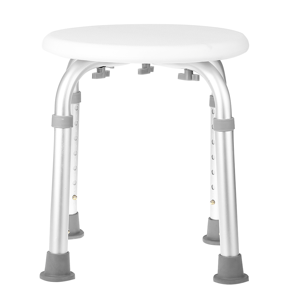 7 Height Adjustable Medical Bath Shower Round Stool Chair Bath Tub ...