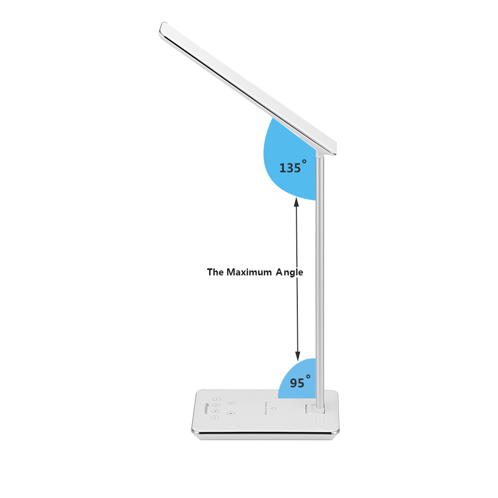 48 led schreibtischlampe b rolampe mit wireless qi. Black Bedroom Furniture Sets. Home Design Ideas