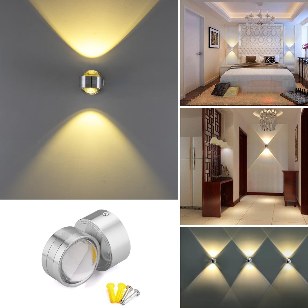 2w 3w 4w 6w led wandlampe au en innen wandleuchte flur treppen lampe wohnzimmer ebay