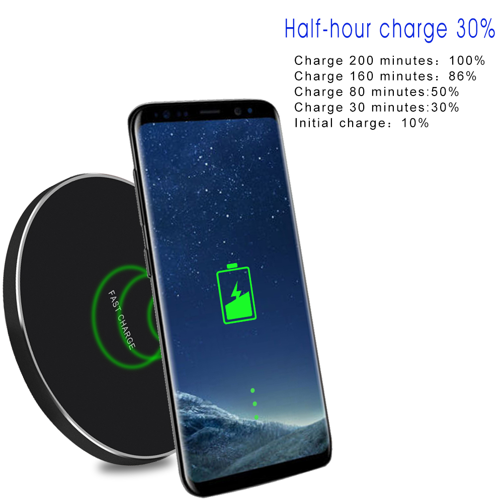rapide chargeur sans fil qi induction charge pour apple iphone 8 x samsung s9 s8 ebay. Black Bedroom Furniture Sets. Home Design Ideas