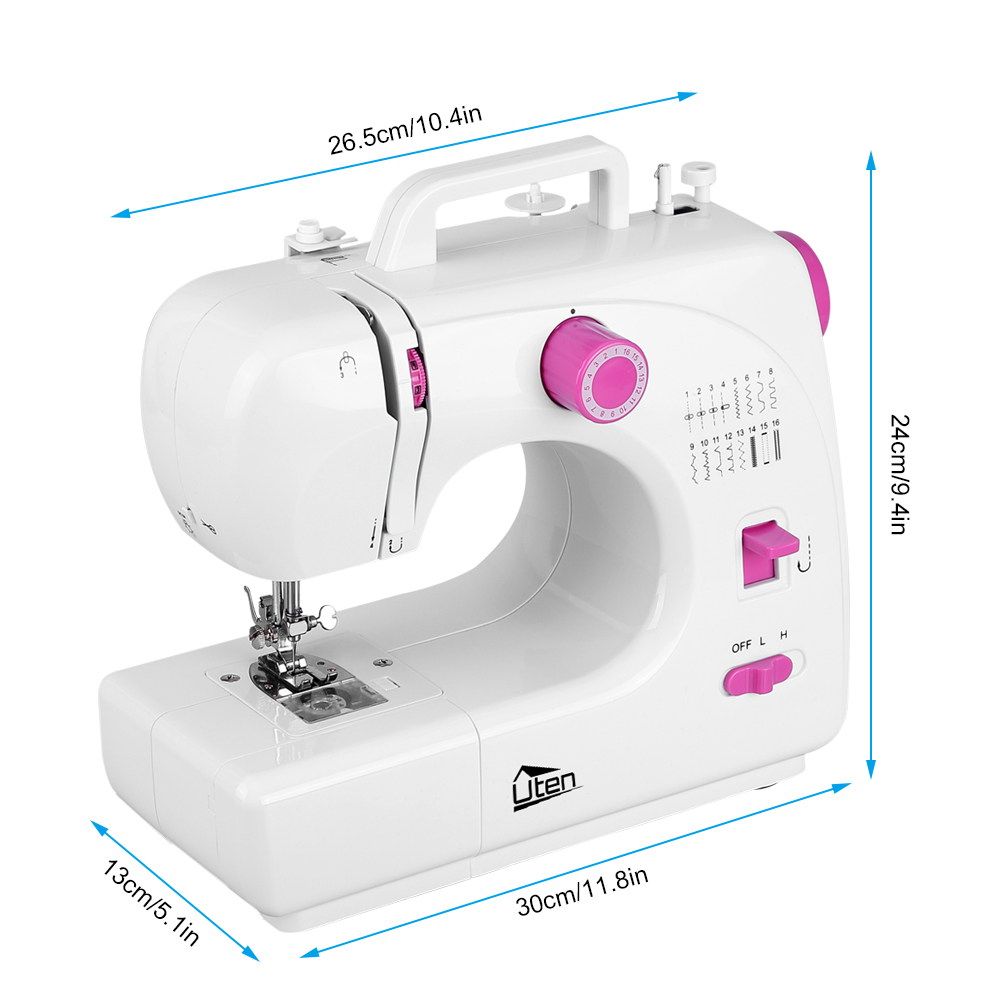 16 Stitches Electric Overlock Sewing Machine Household Tool 2 Thread A Diagram Labeled 2children Should Only Use The Appliance With Adult Supervision 3never Run Whne Theres In Needlebut No Fabric